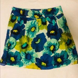 LOFT Size 8 lightweight Floral skirt